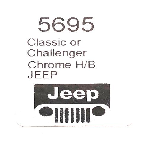 Horn Button Jeep Logo Steel Chrome 3