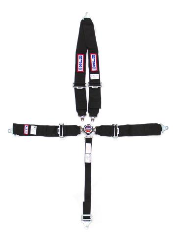 RJS Safety Black Bolt-On 5 Point Cam Lock Harness 1029301
