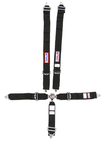RJS Safety Harness Black 5 Point Camlock SFI 16.1 Pull