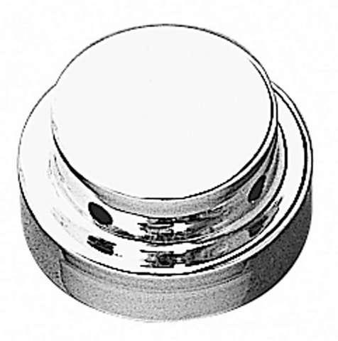 Radiator / Intercooler Cap Cover Snap On Steel Chrome GM