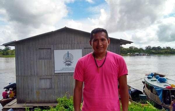 Paulo Marubo, líder da organização indígena Univaja, na Fronteira Isolada Amazônica.