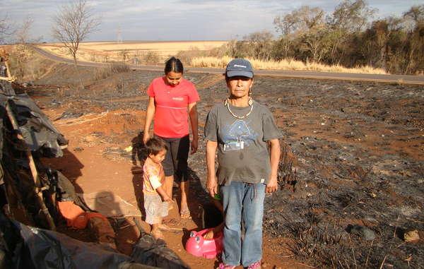 Damiana Cavanha et sa communauté ont perdu leurs abris et tous leurs biens dans l'incendie.