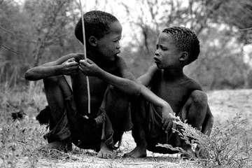 Ragazzi Boscimani, Namibia.