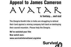 L'appel de Survival à James Cameron est publié aujourd'hui dans le magazine Variety