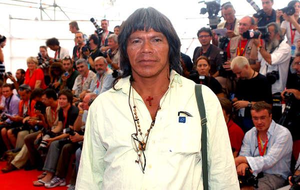 """""""En 2008, Ambrósio durante el estreno de la película Birdwatchers, en el Festival de Cine de Venecia."""""""