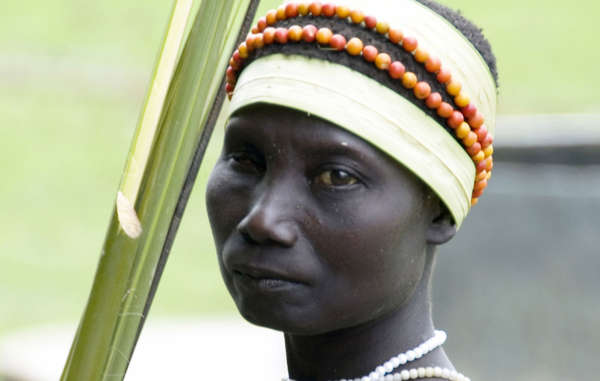 Jarawa woman from the Andamans. Her tribe is at risk from 'human safaris'.
