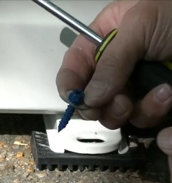 how to install a mrcool mini split anchor the condenser in place part 2  [ 1280 x 720 Pixel ]