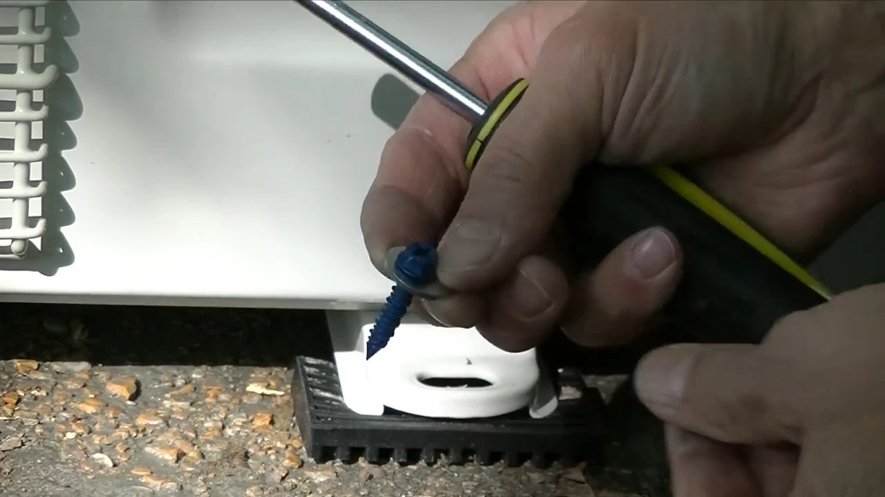 hight resolution of  how to install a mrcool mini split anchor the condenser in place part 2