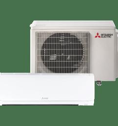 mitsubishi mz gl12na 12 000 btu mini split air conditioner with heat [ 1200 x 1200 Pixel ]
