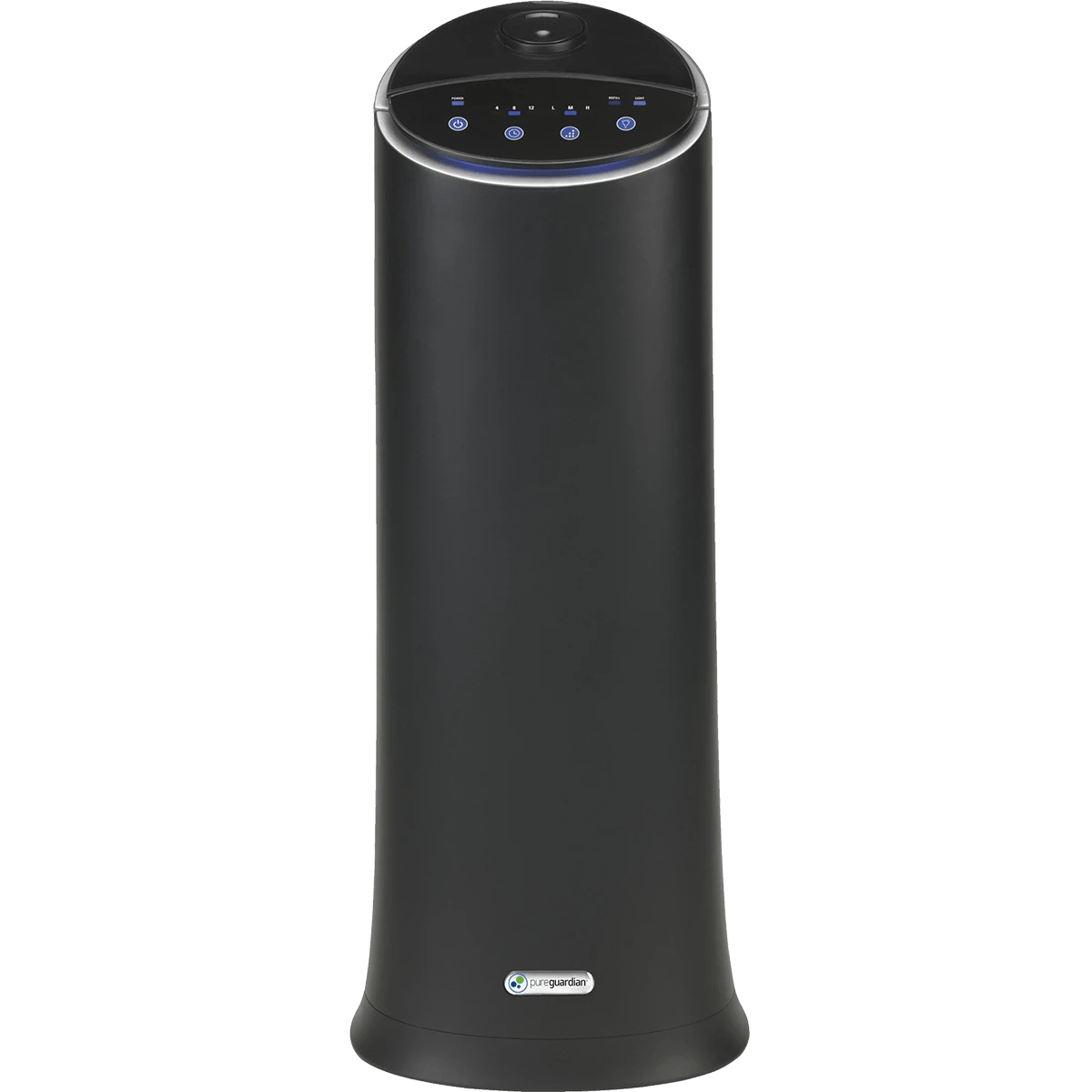hight resolution of pureguardian 100 hour ultrasonic tower humidifier black front