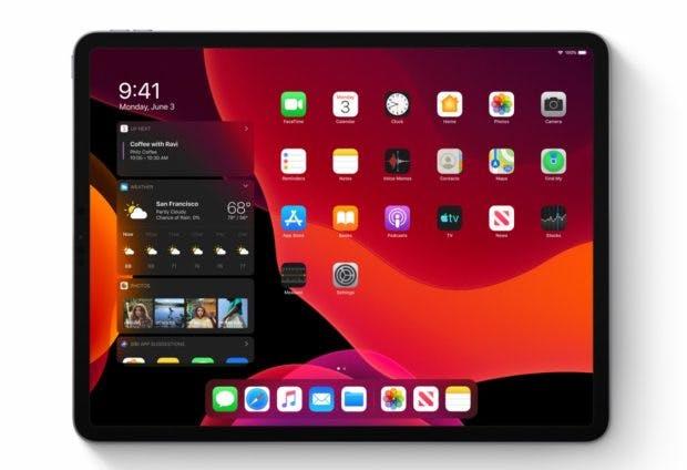 iPadOS the Homescreen. (Image: Apple)