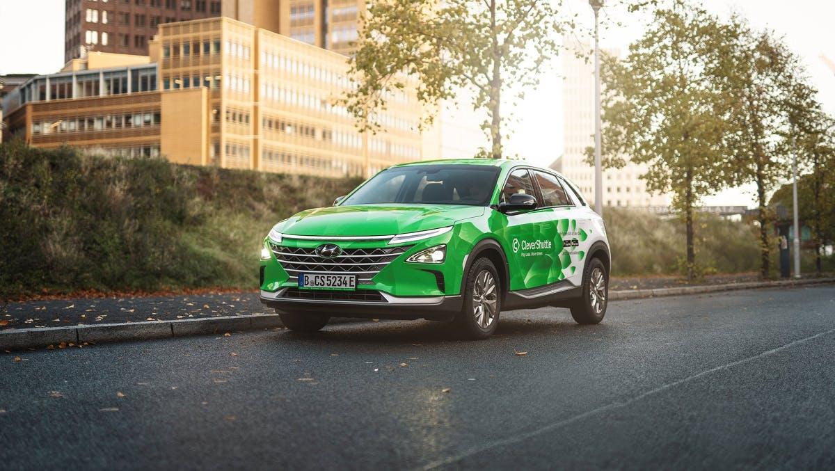 Berlin: Clevershuttle erweitert Flotte um 25 Wasserstoff-Autos