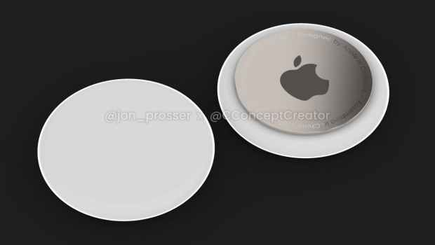 This is what the Apple Airtags should look like.  (Image: John Prosser)