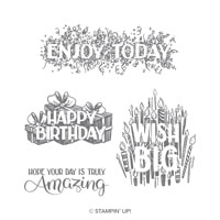 Big Wishes Wood-Mount Stamp Set
