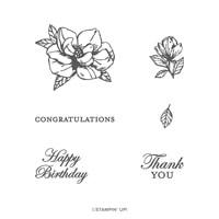 Magnolia Blooms Photopolymer Stamp Set