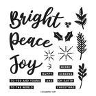 Peace & Joy Photopolymer Stamp Set