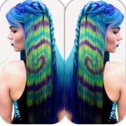 hair color trends - tye dye