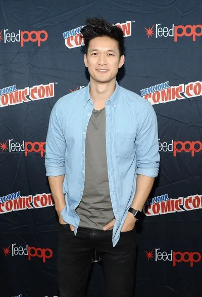 Image may contain Harry Shum Jr. Fashion Human Person Premiere Clothing Shirt Apparel and Red Carpet