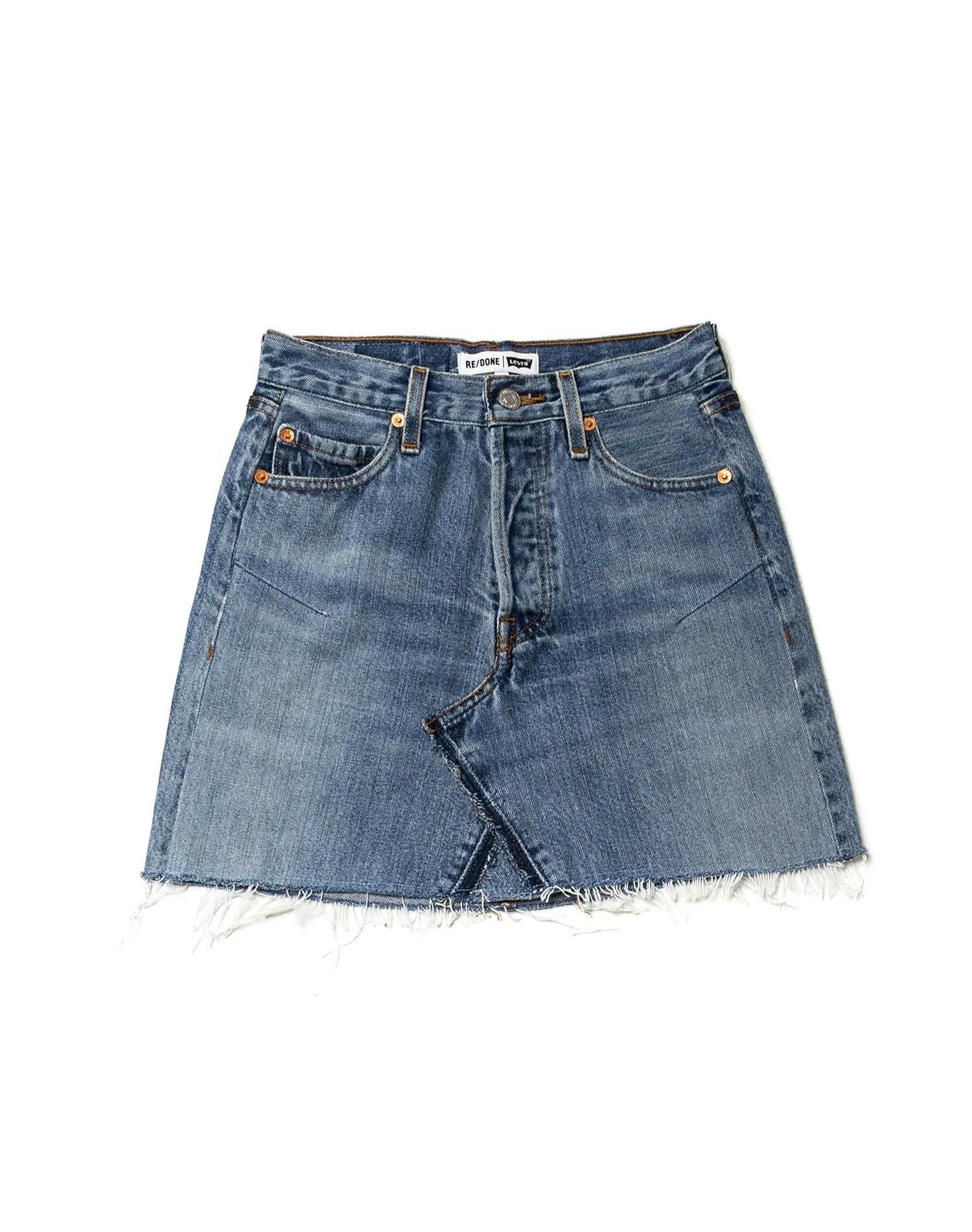 Kendall Jenner Wears a ReDone Levis Denim Skirt in New