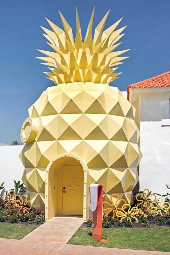 Spongebob Hotel : spongebob, hotel, Spongebob, Squarepants-Themed, Pineapple, Hotel, Nickelodeon, Resort, Punta, Vogue