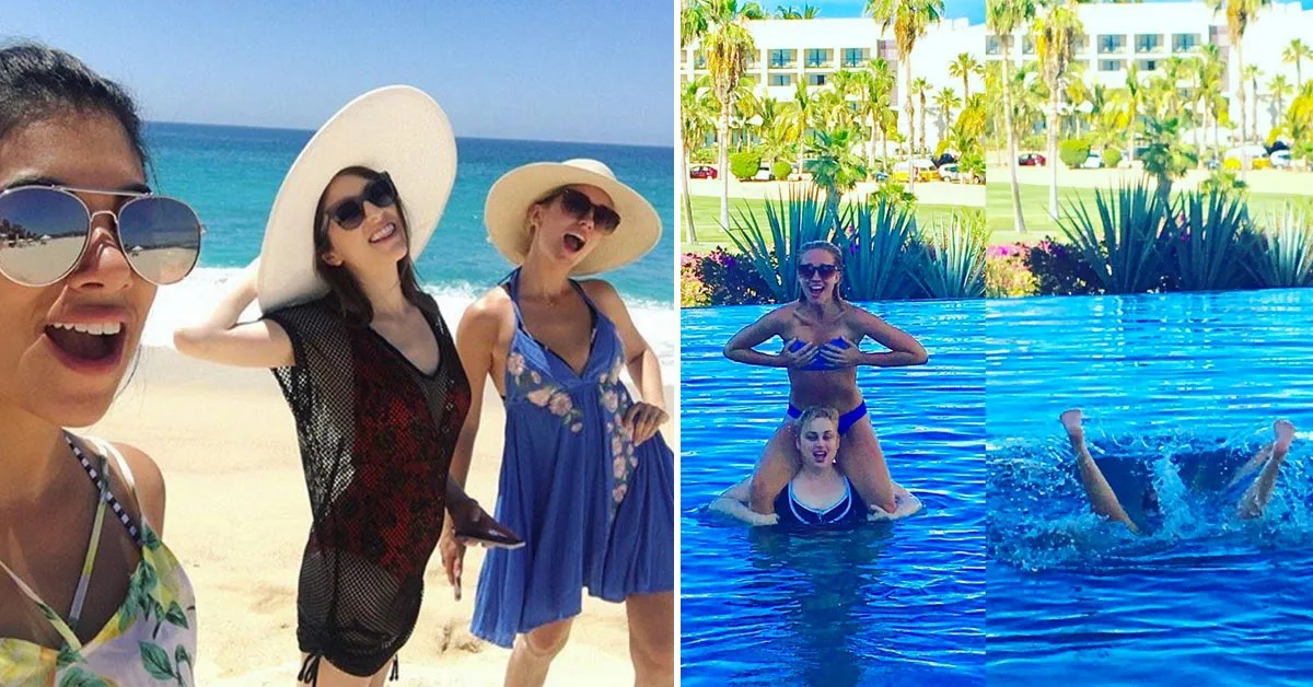 Pitch Perfect 3 Cast Visits Mexico On Vacation Teen Vogue