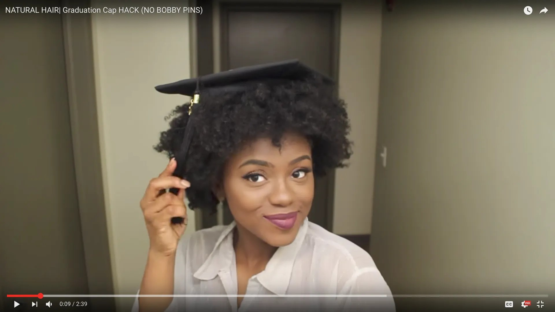 How To Wear A Graduation Cap For Natural Hair Types Teen Vogue