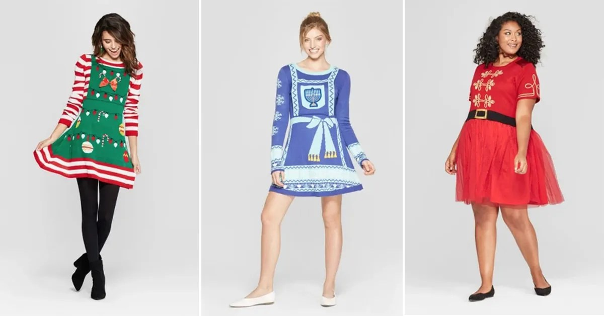 Target Is Selling Ugly Sweater Dresses For The Holidays New