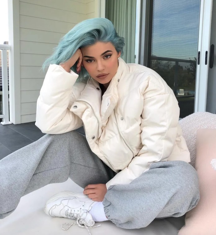 Image result for kylie in icy blue hair