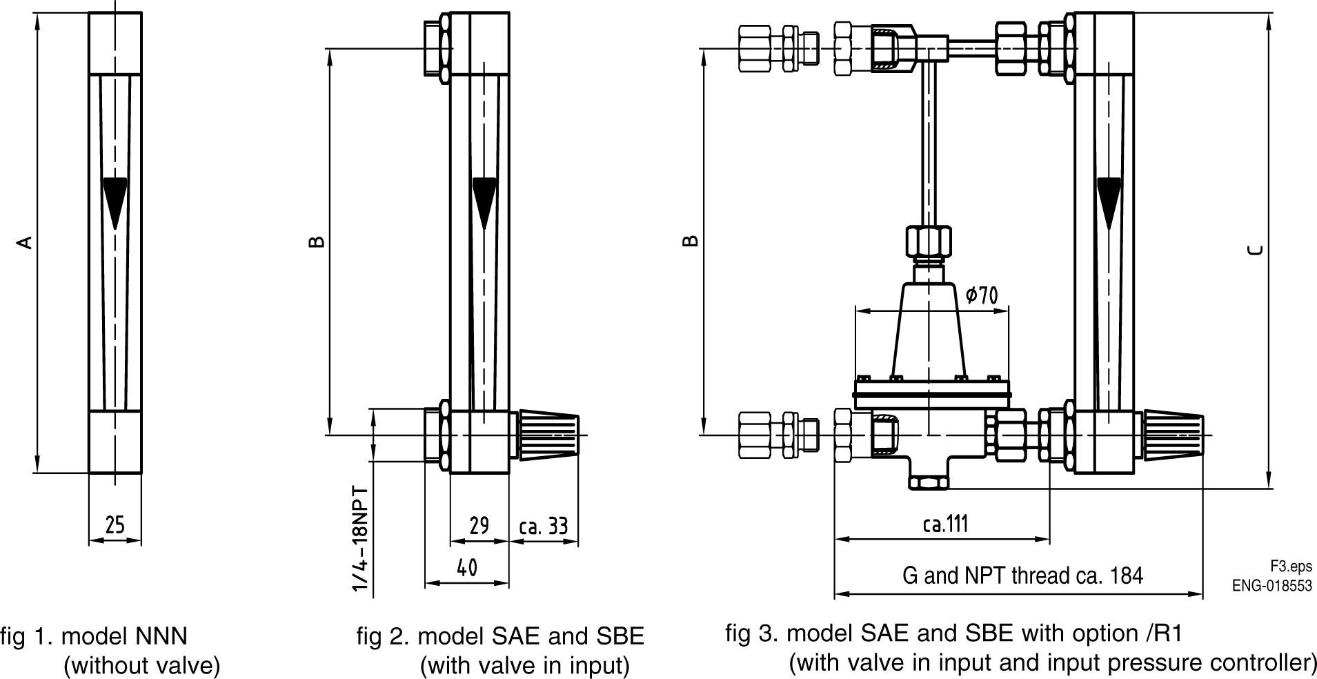 Yokogawa Ragk41 Variable Area Flowmeter Glass Tube Rotameter 1 4 Inch