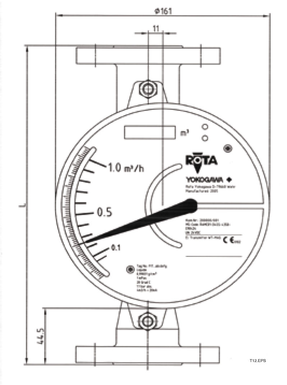 Yokogawa RAMC10 Variable Area Flowmeter, Metal Short