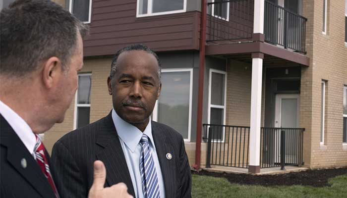 Image result for Images of Ben Carson and housing tour at Columbus