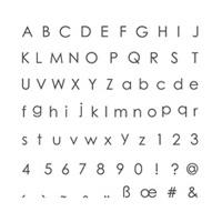 Back To Basics Alphabet Photopolymer Stamp Set
