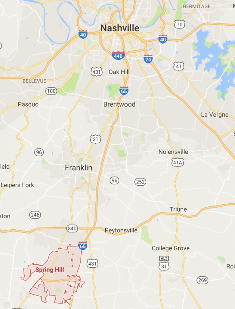 30 Map Of Spring Hill Tn - Maps Online For You