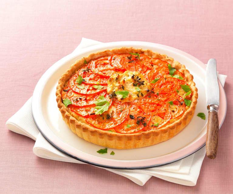tarte au thon fromage frais et tomate