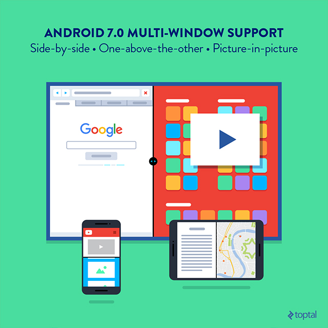 Android 7.0 Multi-Window support