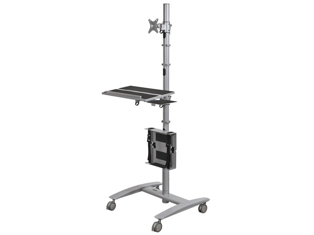 balt 27614 Beta Cart Adjustable Sit and Stand Workstation
