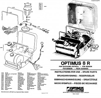 Optimus 8r camp stove instructions