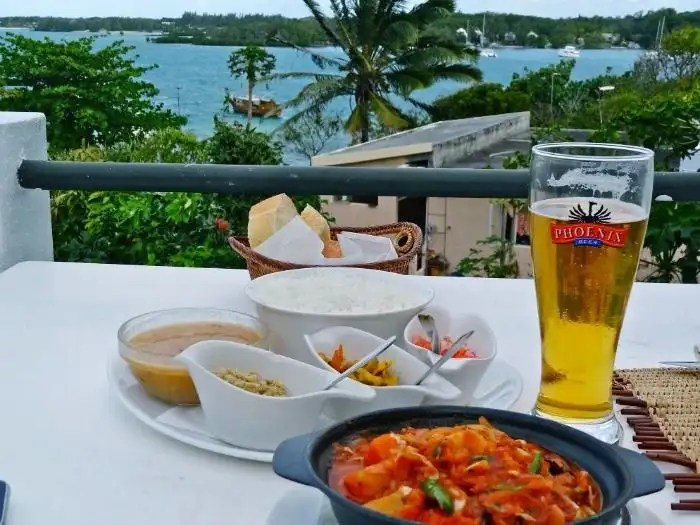 Creole food and variety of foods available in Mauritius