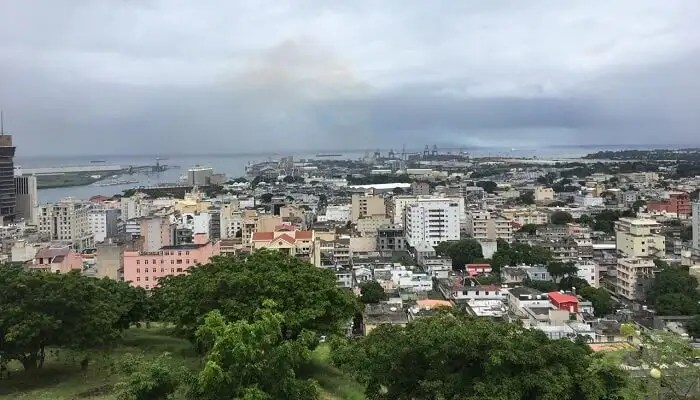 overview of the city Mauritius