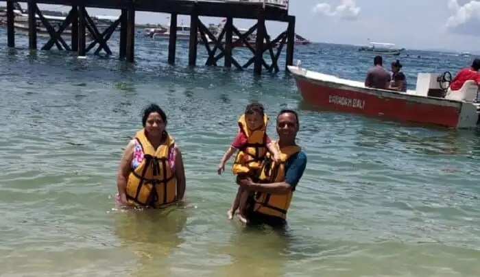 took watersports activities with kids