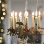 Trouva Black Metal Advent Candle Holder With Candles