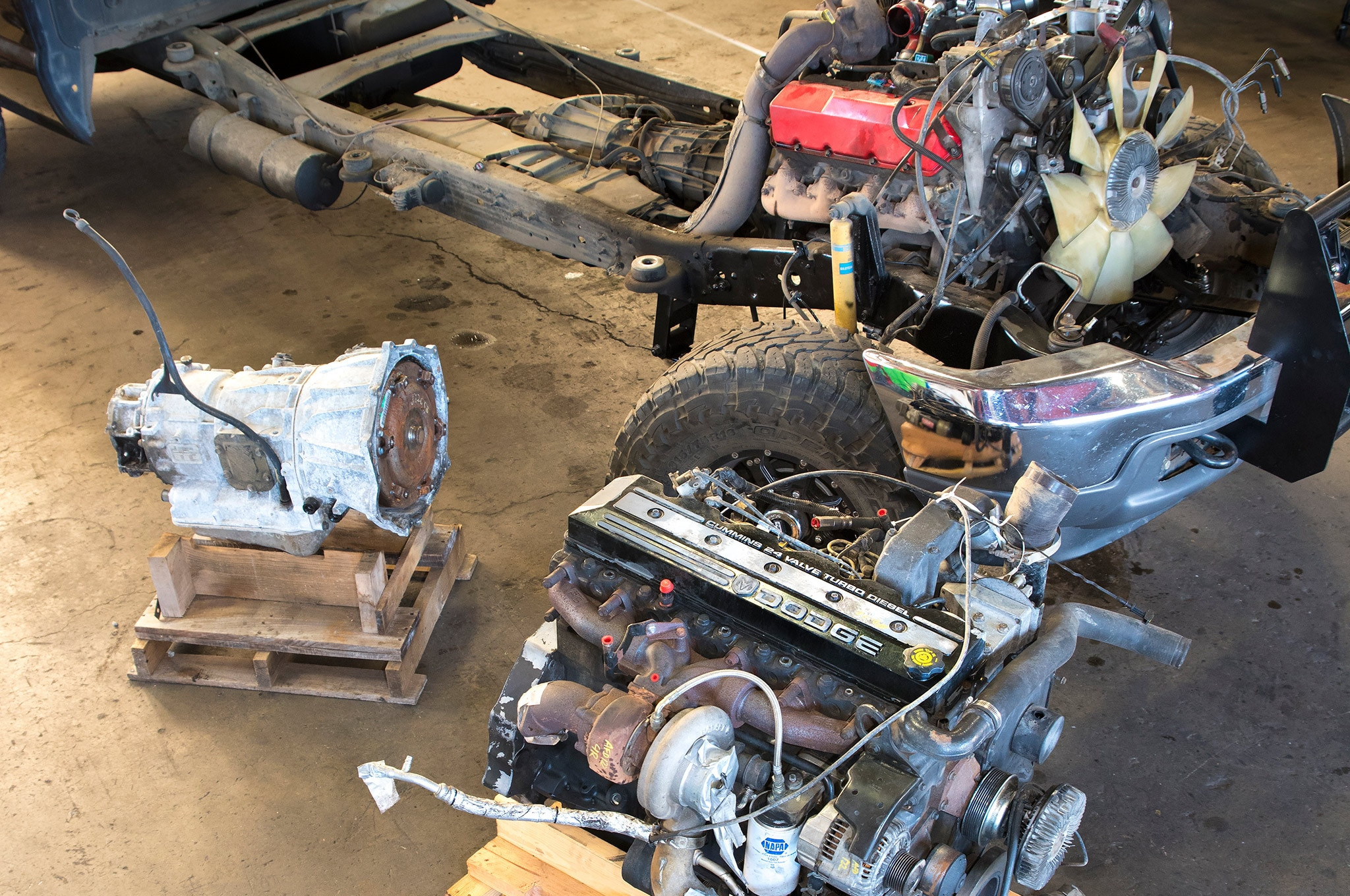 how to swap a ford 7 3l power stroke v 8 with a 5 9l cummins i 6 and allison 1000 transmission [ 2048 x 1360 Pixel ]