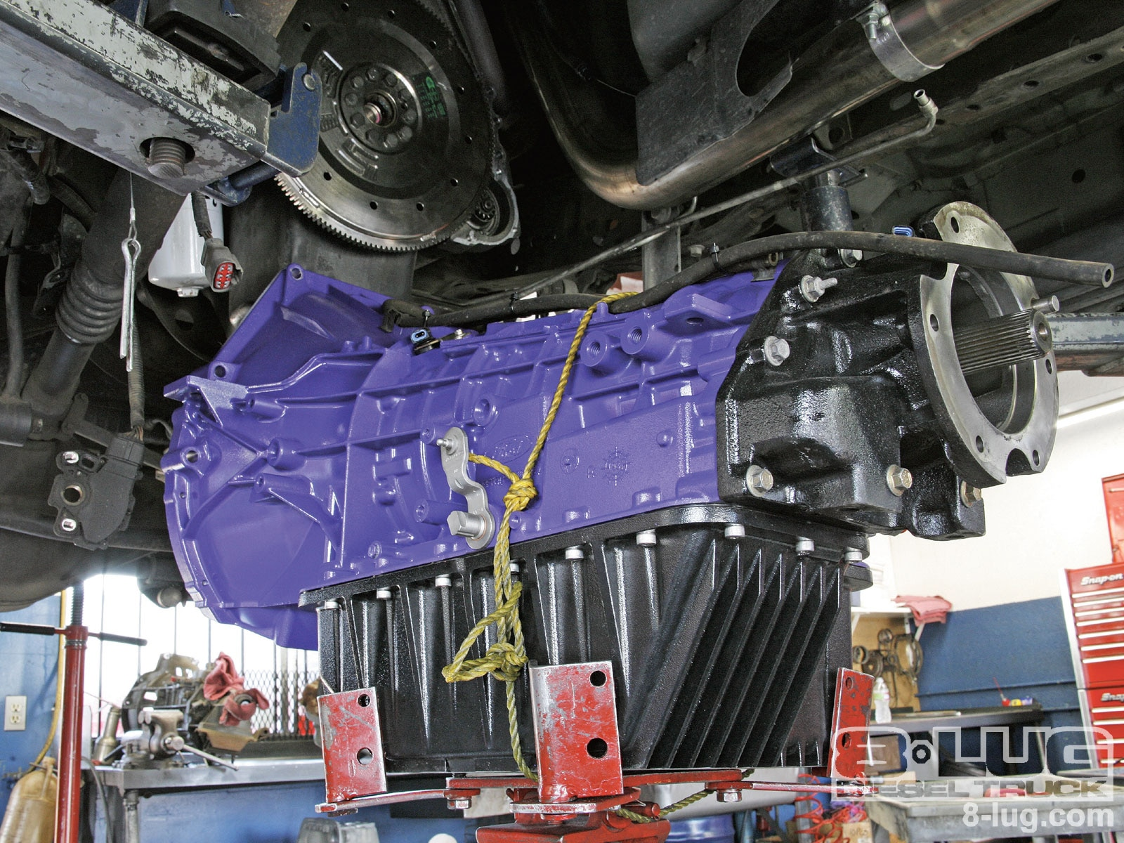 medium resolution of ford f350 transmission swap the big purple tranny photo gallery