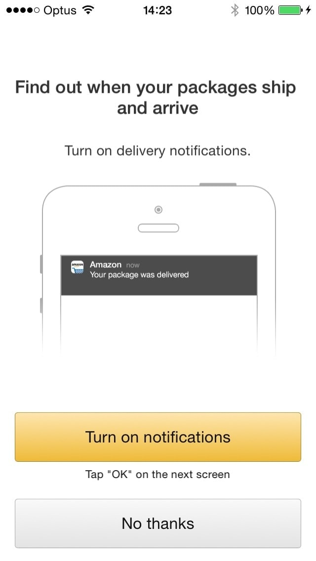 Ask Notification on iOS by Amazon from UIGarage