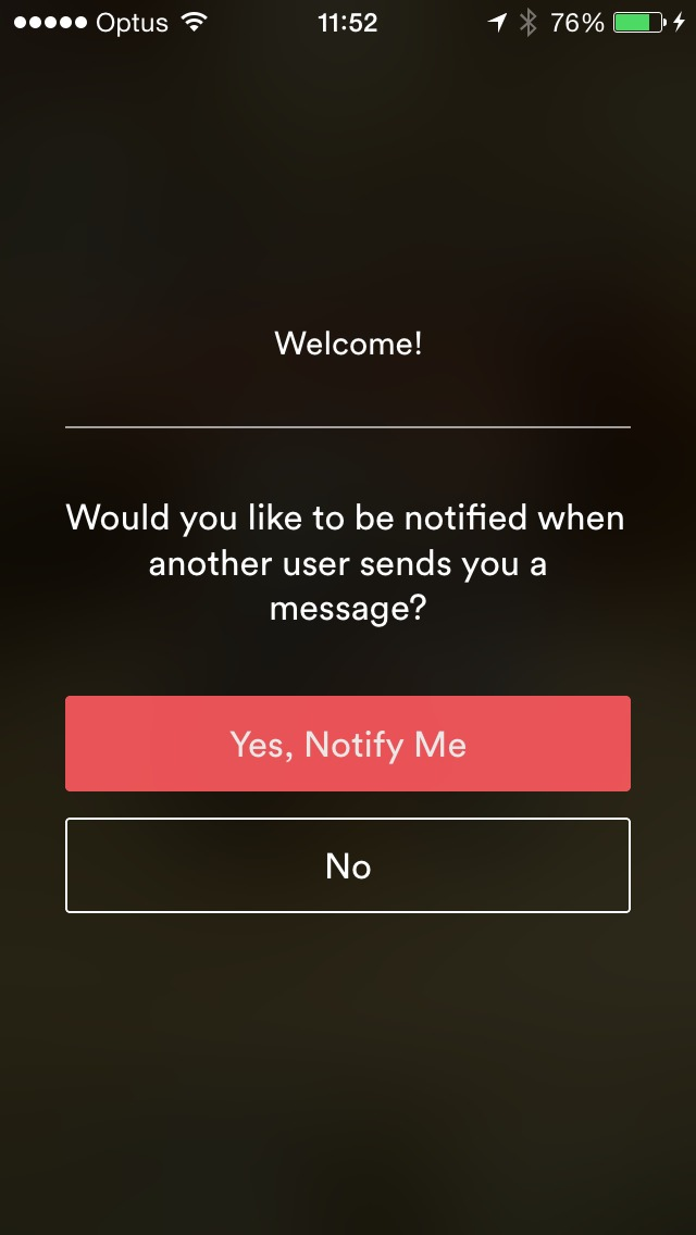 Ask permission notification Screen on iOS by Airbnb from UIGarage