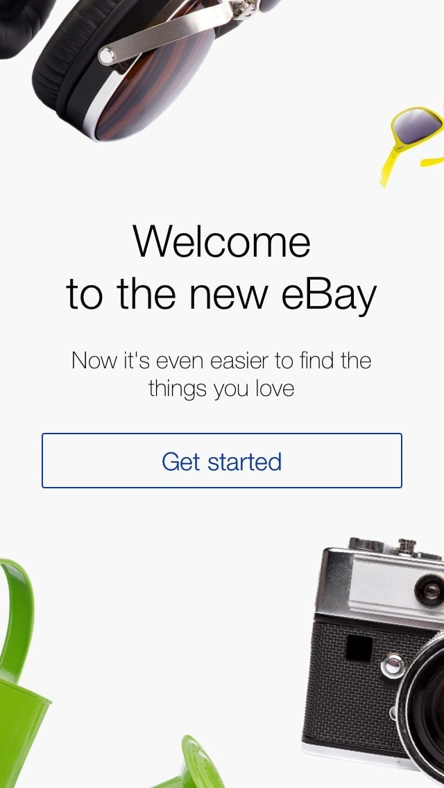 Login screen on iOS by Ebay from UIGarage