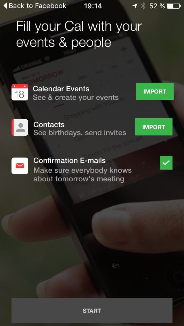 Permission screen on iOS by Anydo from UIGarage