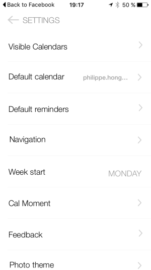 Settings Page on iOS by Anydo from UIGarage
