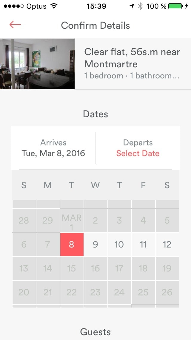 Date picker on iOS by Airbnb from UIGarage
