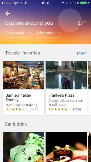 Explore/Browse page on iOS by Google Maps from UIGarage